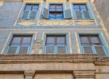拜特房子El Harrawi历史的房子,开罗,埃及门面  免版税库存图片