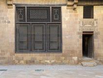 拜特房子El Harrawi历史的房子,开罗,埃及门面  库存图片