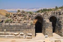 拜特考古学废墟她位于以色列的`  库存图片