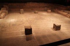 拜特阿尔法古老犹太教堂废墟 库存照片