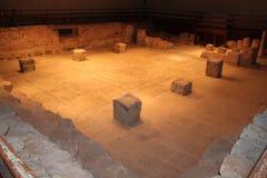 拜特阿尔法古老犹太教堂废墟 免版税库存照片