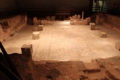 拜特阿尔法古老犹太教堂废墟 库存图片
