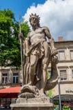 拜罗伊特老镇-海王星喷泉 免版税库存图片