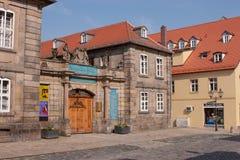 拜罗伊特老镇- Steingraeber钢琴制造商 库存照片