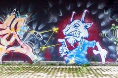 拜罗伊特街艺术-街道画 图库摄影