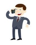 拜访电话的商人 免版税库存照片