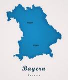 拜仁德国艺术地图 免版税库存照片