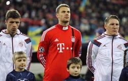 拜仁慕尼黑足球俱乐部球员 库存图片