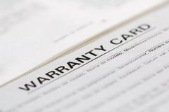 拟订保修单 免版税图库摄影