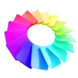拟订圆的光滑的调色板范围光谱 库存例证
