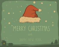 拟订圣诞节横向集合雪花都市向量 免版税库存照片