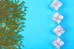 拟订圣诞节的模板与文本的地方 免版税图库摄影
