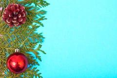 拟订圣诞节的模板与文本的地方 免版税库存照片