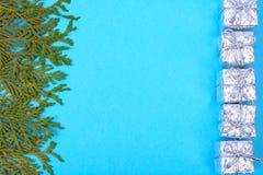 拟订圣诞节的模板与文本的地方 免版税库存图片