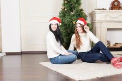 拟订圣诞节祝贺祝贺的穿戴的等礼品例证新年度 免版税库存照片