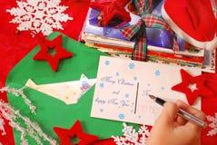 拟订圣诞节问候文字 免版税库存照片