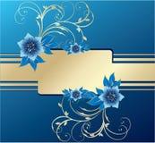 拟订时髦要素花卉的问候 库存照片