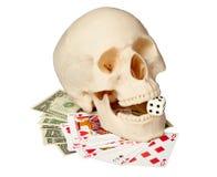 拟订演奏头骨的人力货币 免版税库存照片