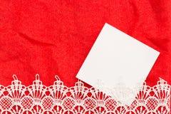 拟订爱消息的空白有红色背景 免版税库存图片