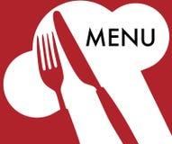 拟订菜单 向量例证