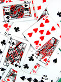 拟订赌博的娱乐场演奏啤牌风险 图库摄影