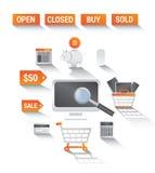 拟订dof重点现有量在线浅购物非常 向量例证