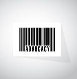 拥护条形码标志概念例证 库存照片