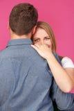 拥抱人妇女 免版税库存照片
