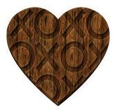 拥抱和亲吻心脏 免版税库存图片