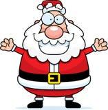 拥抱圣诞老人 库存图片