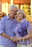 拥抱在手段的夫妇 库存照片
