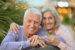 拥抱在手段的夫妇 免版税库存图片