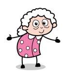 拥抱姿态-老动画片老婆婆传染媒介例证 皇族释放例证