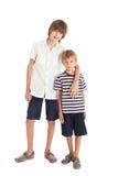 二个男孩,二个兄弟 免版税库存照片