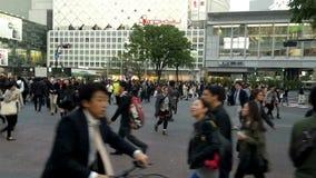 拥挤交叉路在涩谷,东京 股票视频