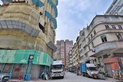 拥挤公寓在九龙香港 库存图片