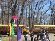 拥挤在第37个每年黄水仙节日在梅里登,康涅狄格 库存照片