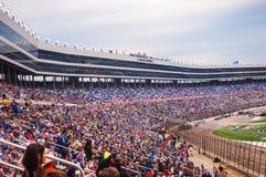 拥挤在鸭子NASCAR司令员500种族2016年 免版税库存照片