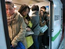 拥挤地铁 免版税库存照片