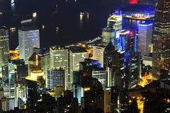 拥挤城市在香港 库存图片
