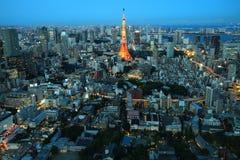 拥挤城市,东京,日本 免版税库存照片