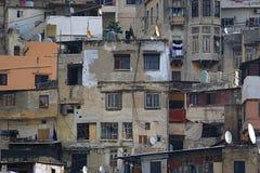 拥挤居民住房的黎波里 免版税库存照片