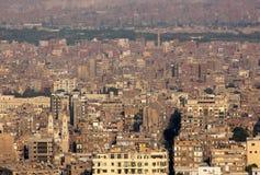 拥挤开罗鸟瞰图在埃及在非洲 库存照片