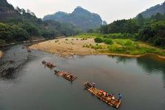 拥挤日节假日国家人旅行 免版税图库摄影