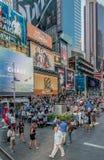 拥挤时代广场 免版税图库摄影
