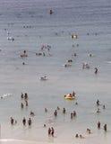 拥挤海滩036 库存照片