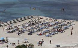 拥挤海滩051 图库摄影