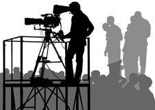 拥挤电视 免版税图库摄影