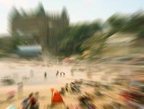 拥挤的海滩 免版税库存照片