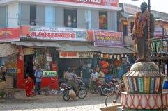 拥挤的街在印度 库存图片
